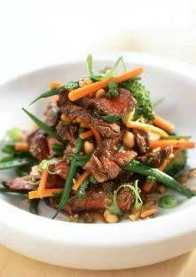 Dans un plat creux, mélangez la sauce soja avec l'ail pelé et pressé. Ajoutez le gingembre p...
