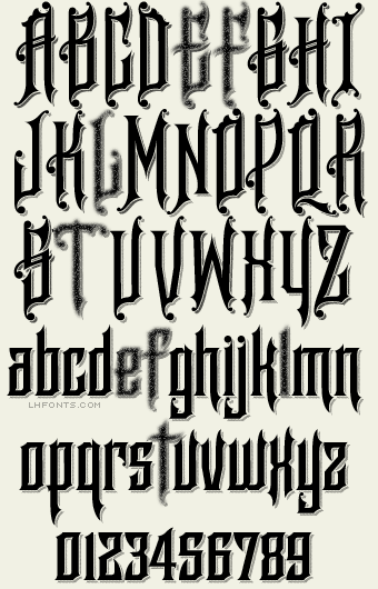 Letterhead Fonts / LHF Raven / Denise Bayers Fonts | And on