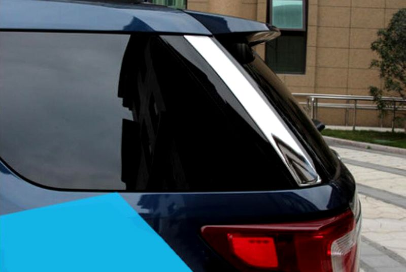 Szadi Podokonnik Otdelka 2 Sht Dlya Forda Issledovatel 2011 2012 2013 2014 2015 2016 Stajlinga Avtomobilej Window Sill Trim Ford Explorer Rear Window
