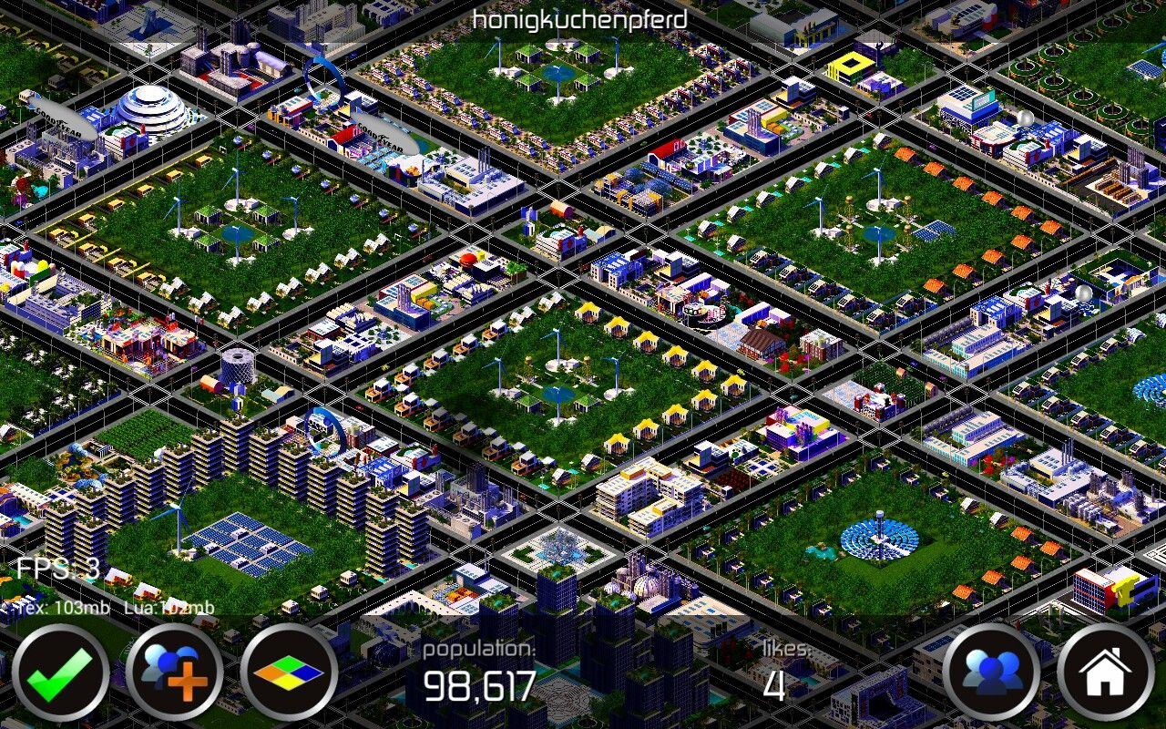Designer City - Geometric residential areas - with