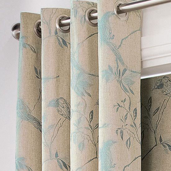 Duck Egg Songbird Eyelet Curtain Collection Duck Egg Blue