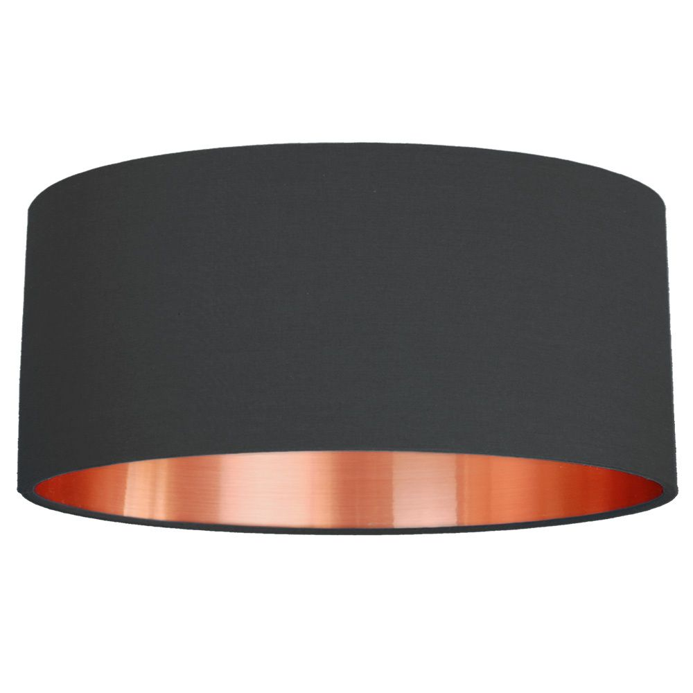 Quirk Ltd - 45cm Brushed Copper Effect Fabric Drum Lampshade - 25 Colours, £70.00 (http://quirkuk.com/45cm-brushed-copper-effect-fabric-drum-lampshade-25-colours/)