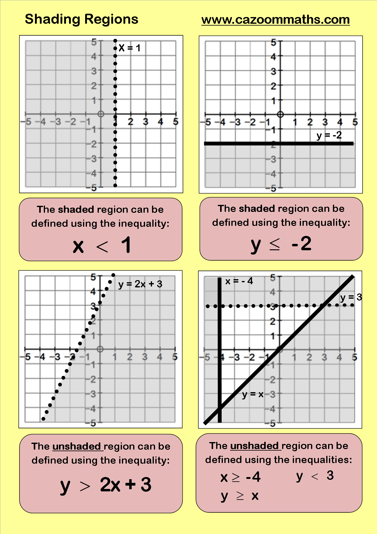 Printable Maths Worksheets