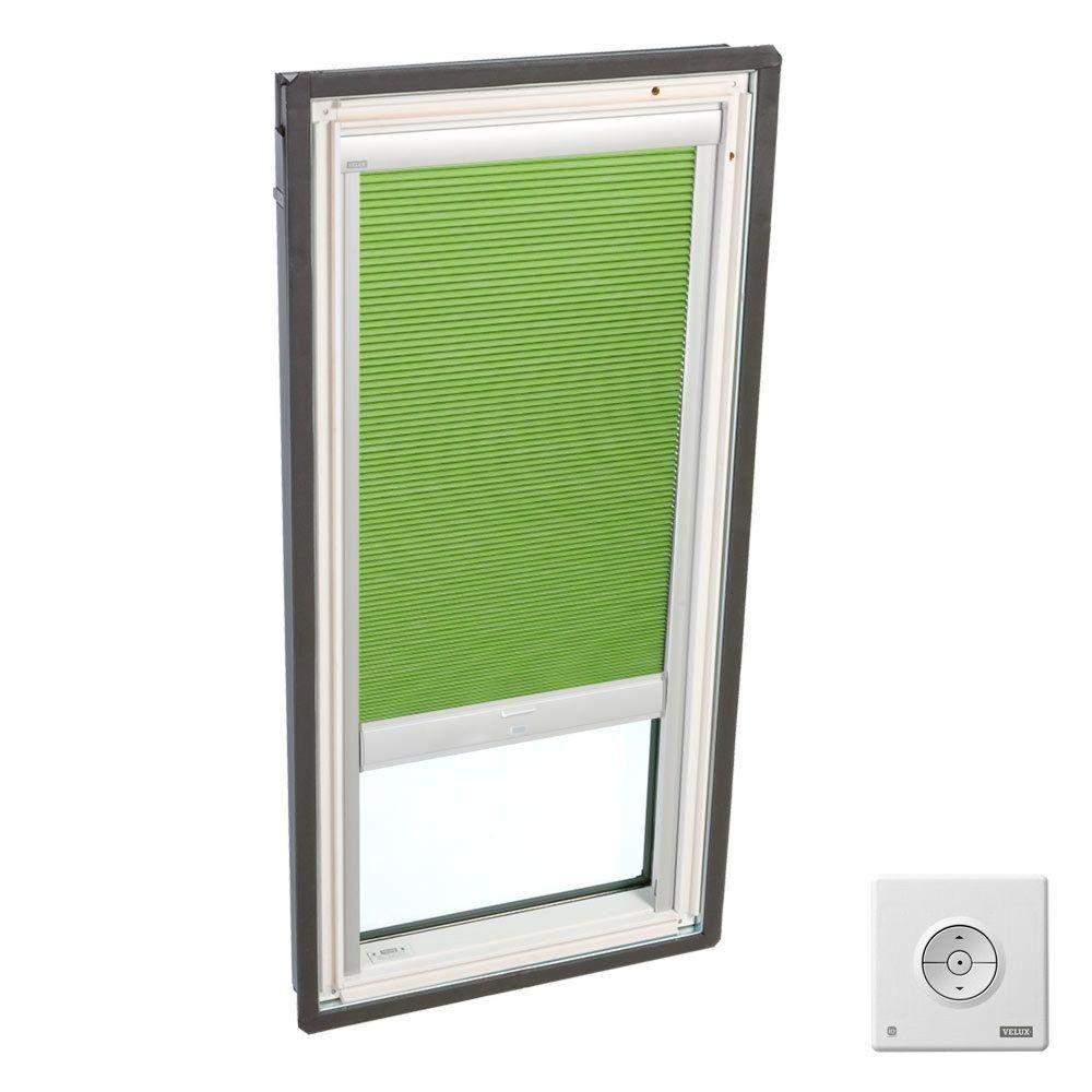 Velux Solar Powered Room Darkening Green Skylight Blinds For Fs