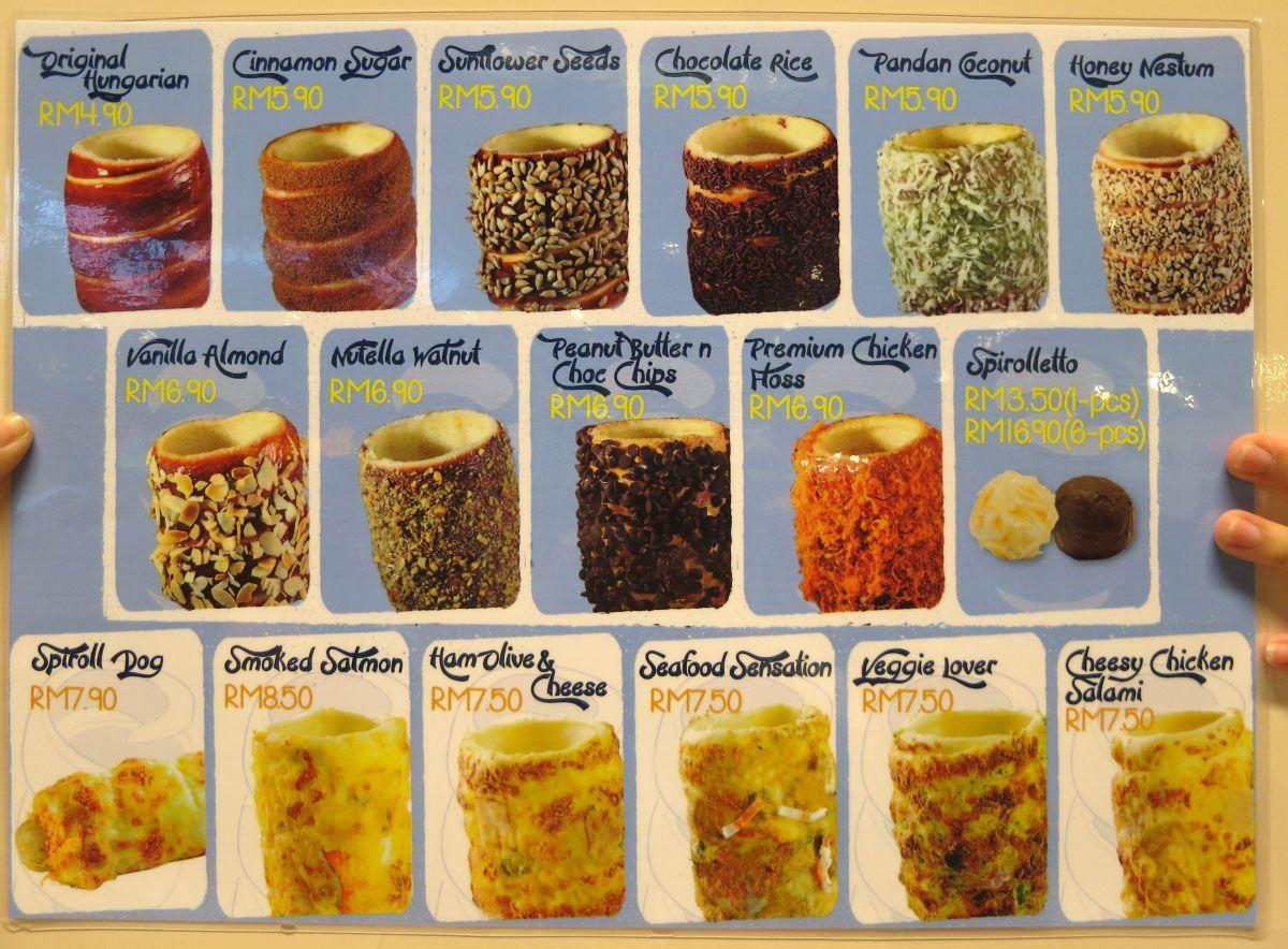 Www Kurtos Kalacs Com Menu In Malaysia Kurtos Fair Food Recipes Cafe Food Chimney Cake
