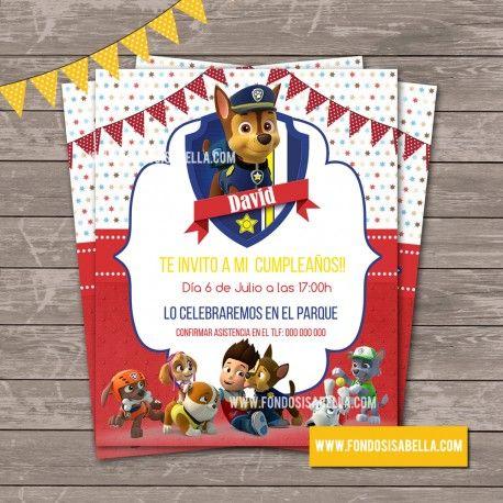 Invitación La Patrulla Canina Invitaciones Patrulla Canina