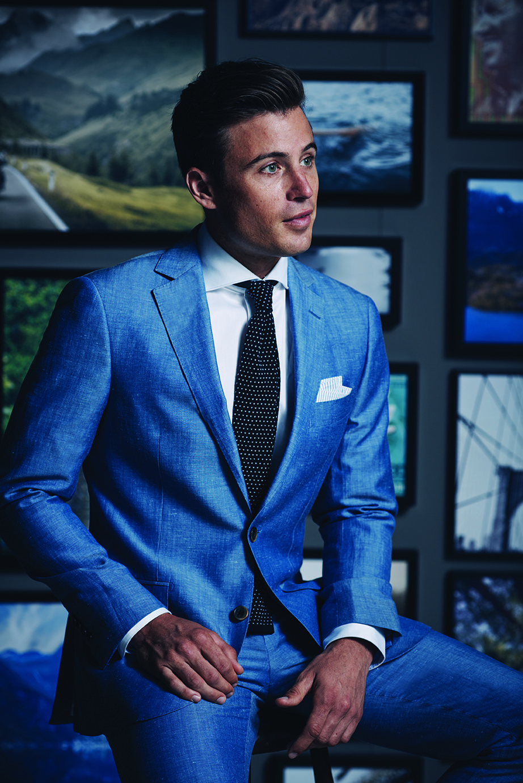 Light Blue Jacket; Light Blue Trouser