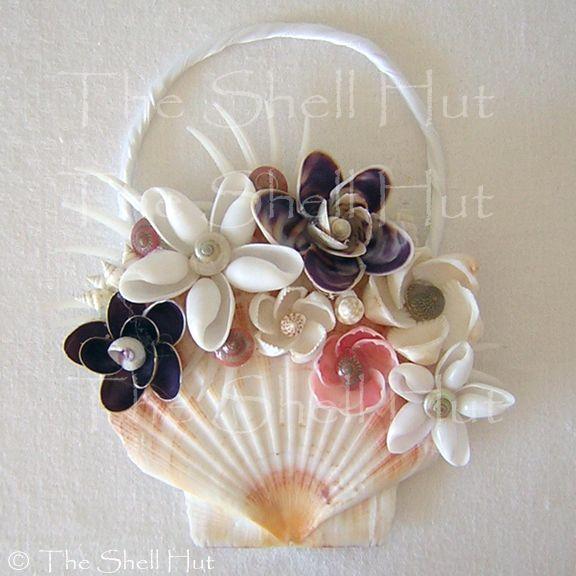 Seashell flowers handmade sea shell christmas wedding for Seashell ornament ideas