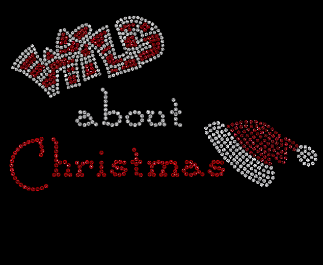 WILD about Christmas  Rhinestone Shirt!!! Rhinestone Shirts! Regular cut t-shirt sizes small- extra large $25.00, On a ladies cut t-shirt $30.00, on a long sleeve tee shirt or sweat shirt $35.00. Add an additional $5.00 for plus sizes. Shipping $5.00 first item, additional items $2.50 www.facebook.com/beachbumzbazaars