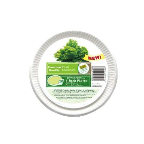 """Paper Plates 72 Packs of 10 by FindingKing. $89.99. These sugar cane plates are biodegradable and durable. They are water and oil resistant; ensuring that they can hold up under the most challenging of picnic or potluck foods. Pack of 10 plates; each 6"""" in diameter."""