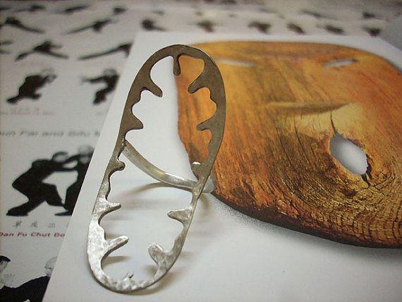 Ring2014.Silverhammer texturecast by Kapami on Etsy, €54.55