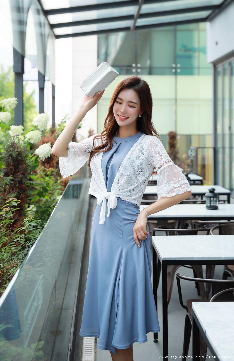 Korean womenus fashion shopping mall styleonme n dress