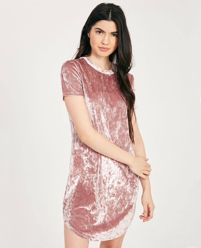 Crushed Velvet T-Shirt Dress | Wet Seal | vestidos | Pinterest