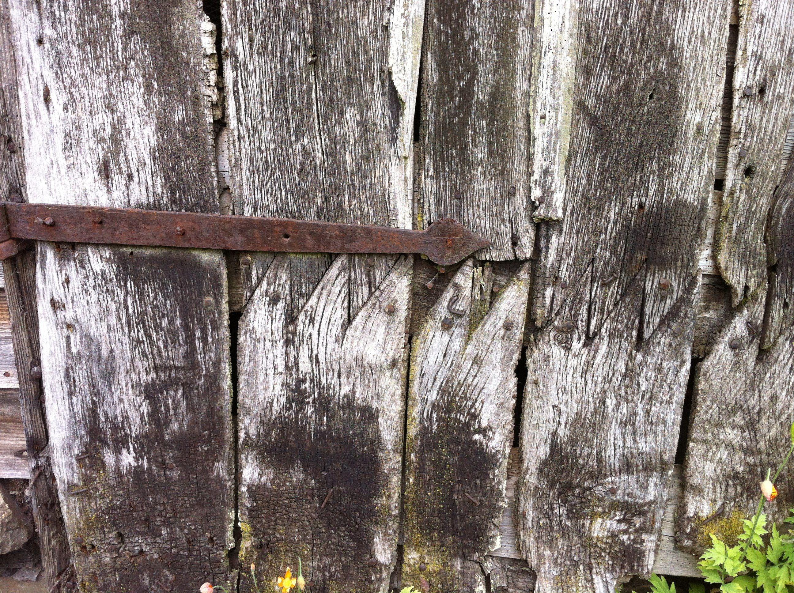 18th Century Barn Door Repair.