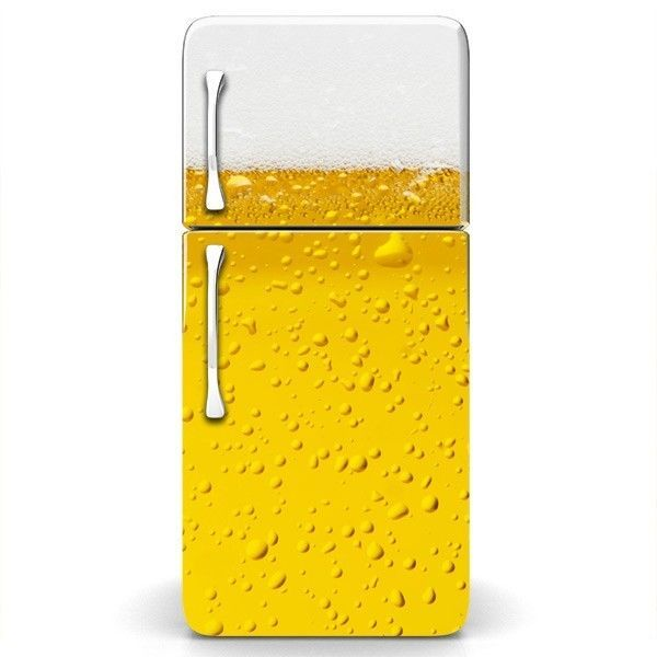 Magicskins fridge wrap refrigerator vinyl skin door decal sticker mancave beer magicskins
