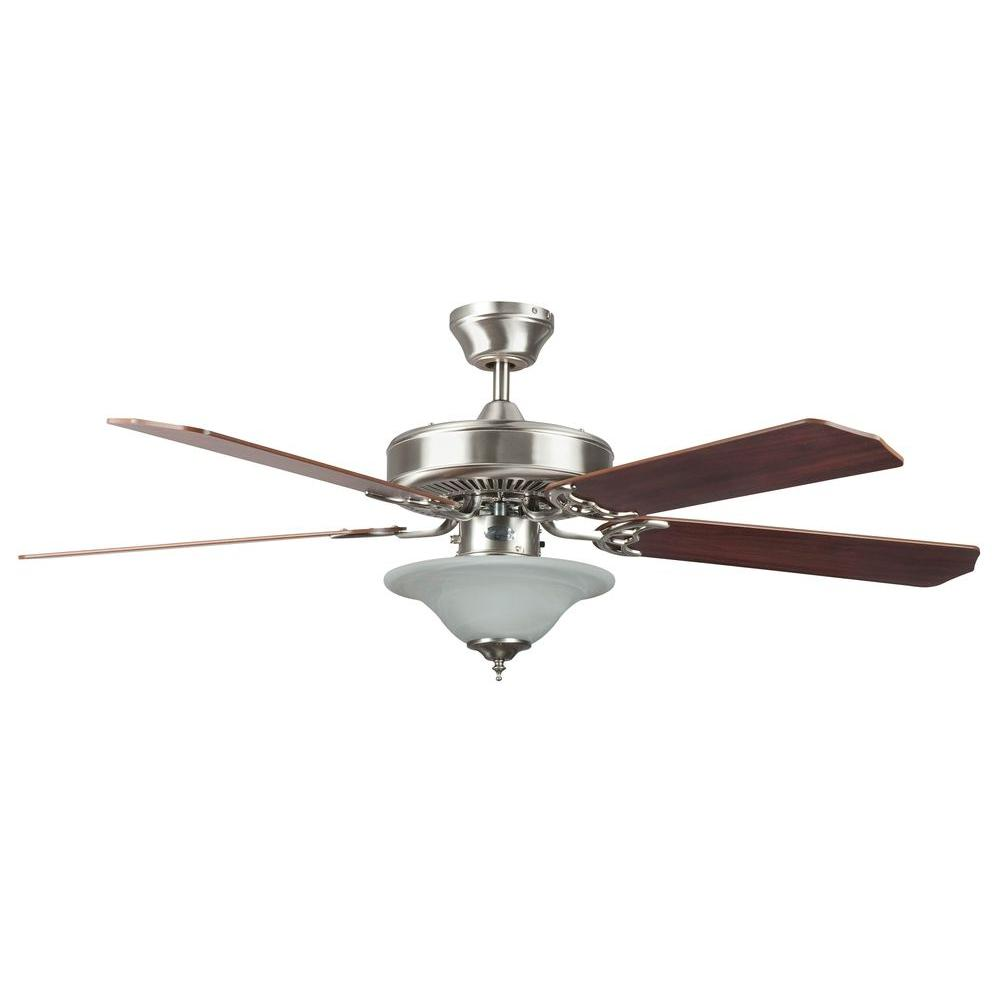 Concord Fans Heritage Square Series 52 In Indoor Stainless Steel Ceiling Fan Stainless Steel Ceiling Fan Ceiling Fan Bowl Light