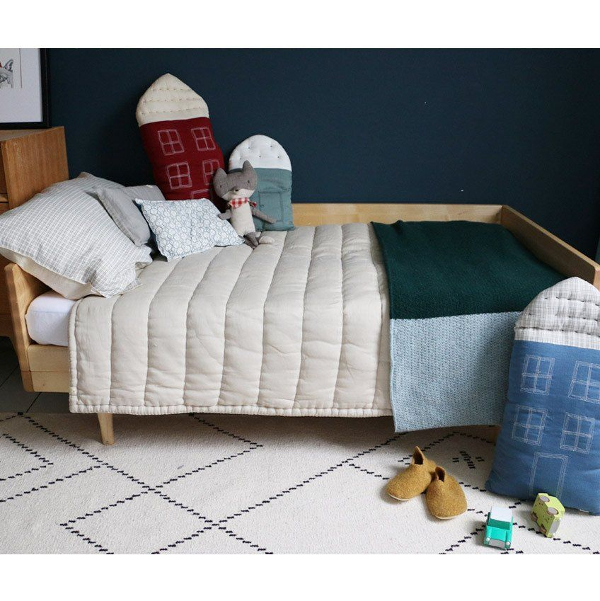 Single Twin Bed Hand Quilted Blanket Boys Room Decor Kids