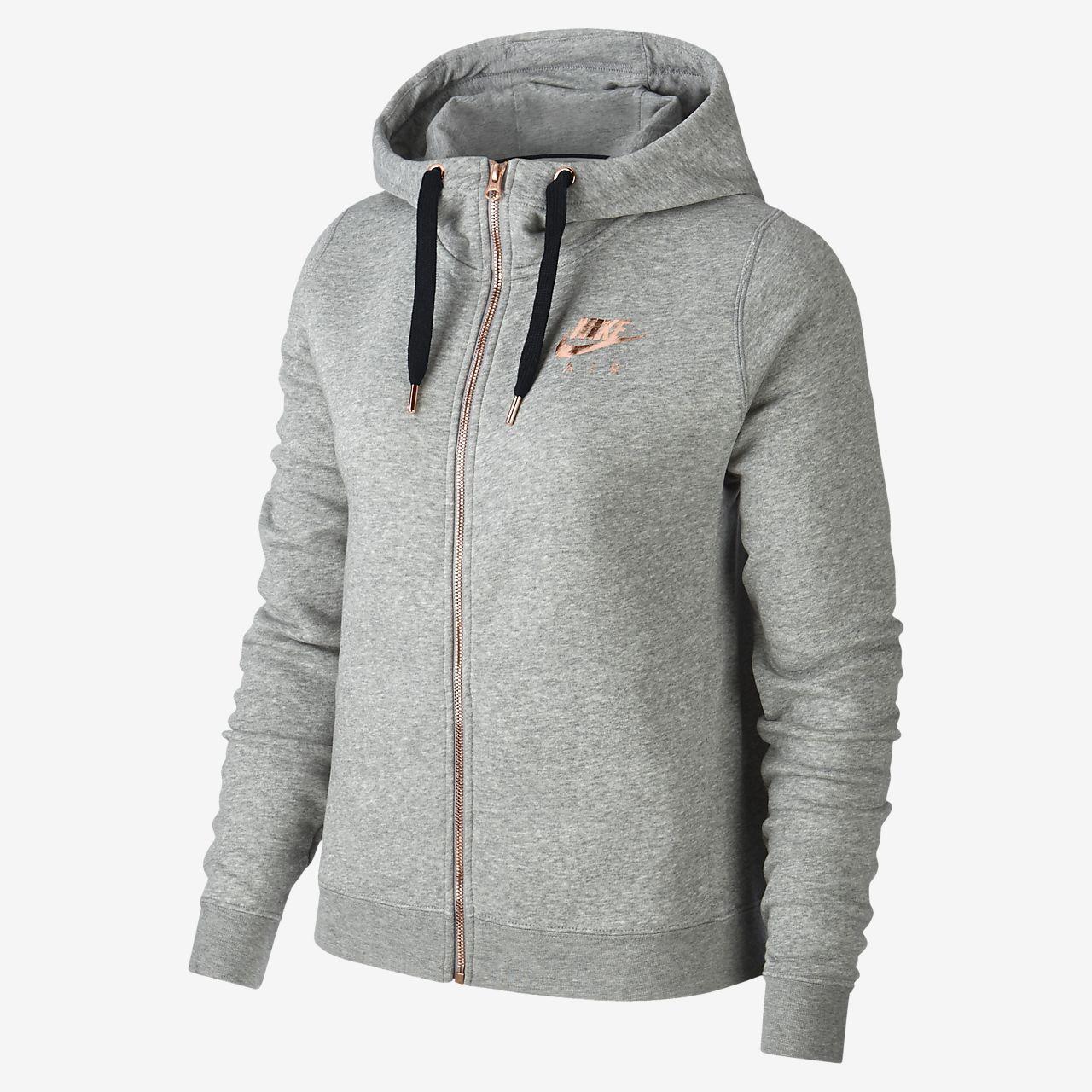Nike Sportswear Rally Fleece Damen Hoodie In Metallic Mit Durchgehendem Reissverschluss Nike De Nike Nike Sportswear Reissverschluss