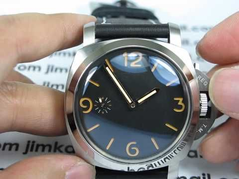 PARNIS MM128 FIDDY DOME GLASS 1950 ROSE GOLD HANDS ORANGE SANDWICH DIAL WATCH - YouTube