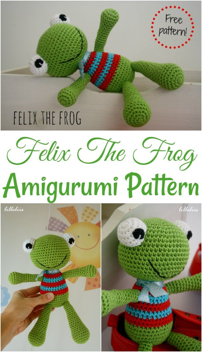Felix the Frog | free amigurumi and crochet patterns | lilleliis | 1200x690