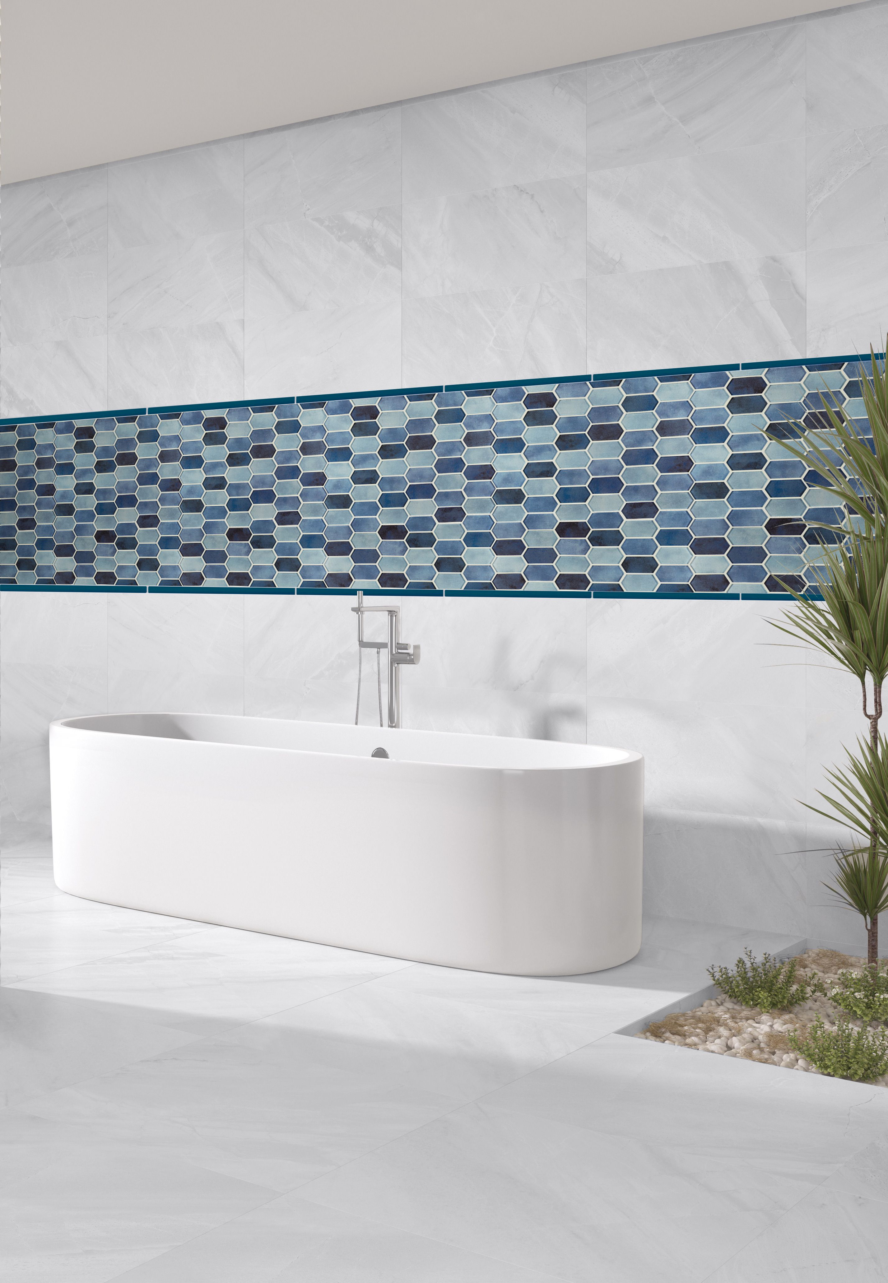 Boathouse Blue Picket 8mm Mosaic In 2020 Glass Mosaic Tiles Mosaic Wall Tiles Mosaic Glass