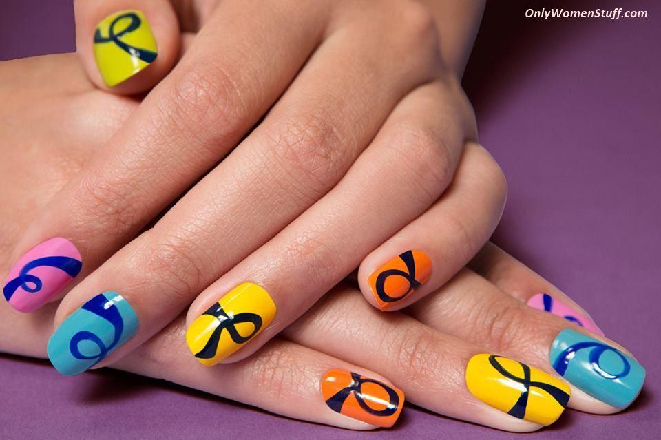 Easy Nail Art Designs By Hand Step By Step Valoblogi Com