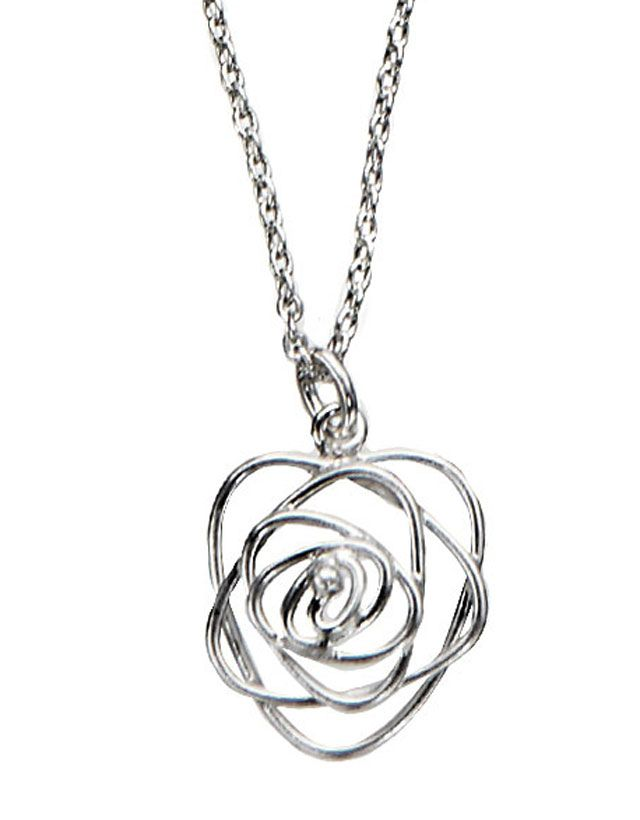 rose wire necklace