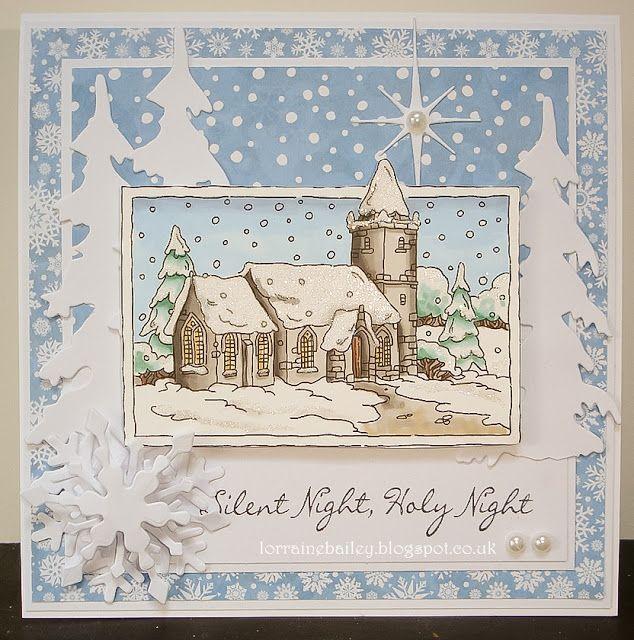 LOTV - Christmas Scenes Snowy Church by Lorraine Bailey