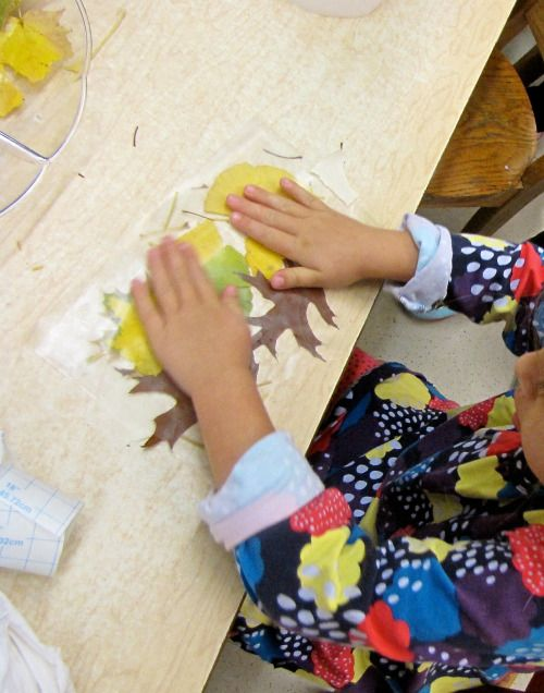 LEAF WORK Last week we collected and sorted leaves. The children also cut off the stems, to prepare them for our art projects. Using the stems for scissor practice builds fine motor skills, coordination, and saves paper! Sorting activities are great...