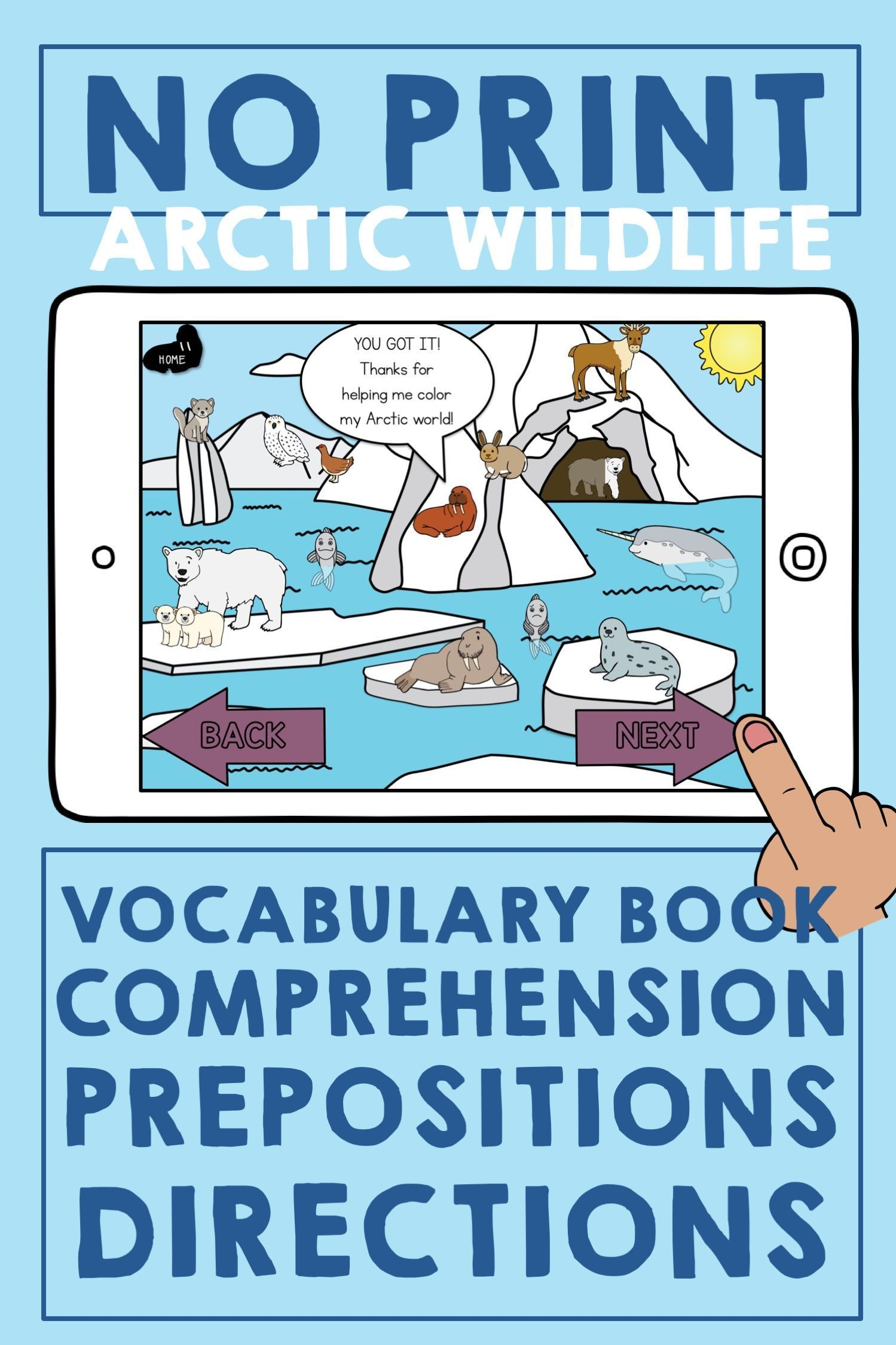 Distance Learning Winter Animals Book Amp Language