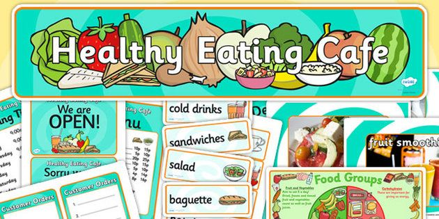 Healthy Eating Cafe Role Play Pack Diy Cafe Role Play Area Kids