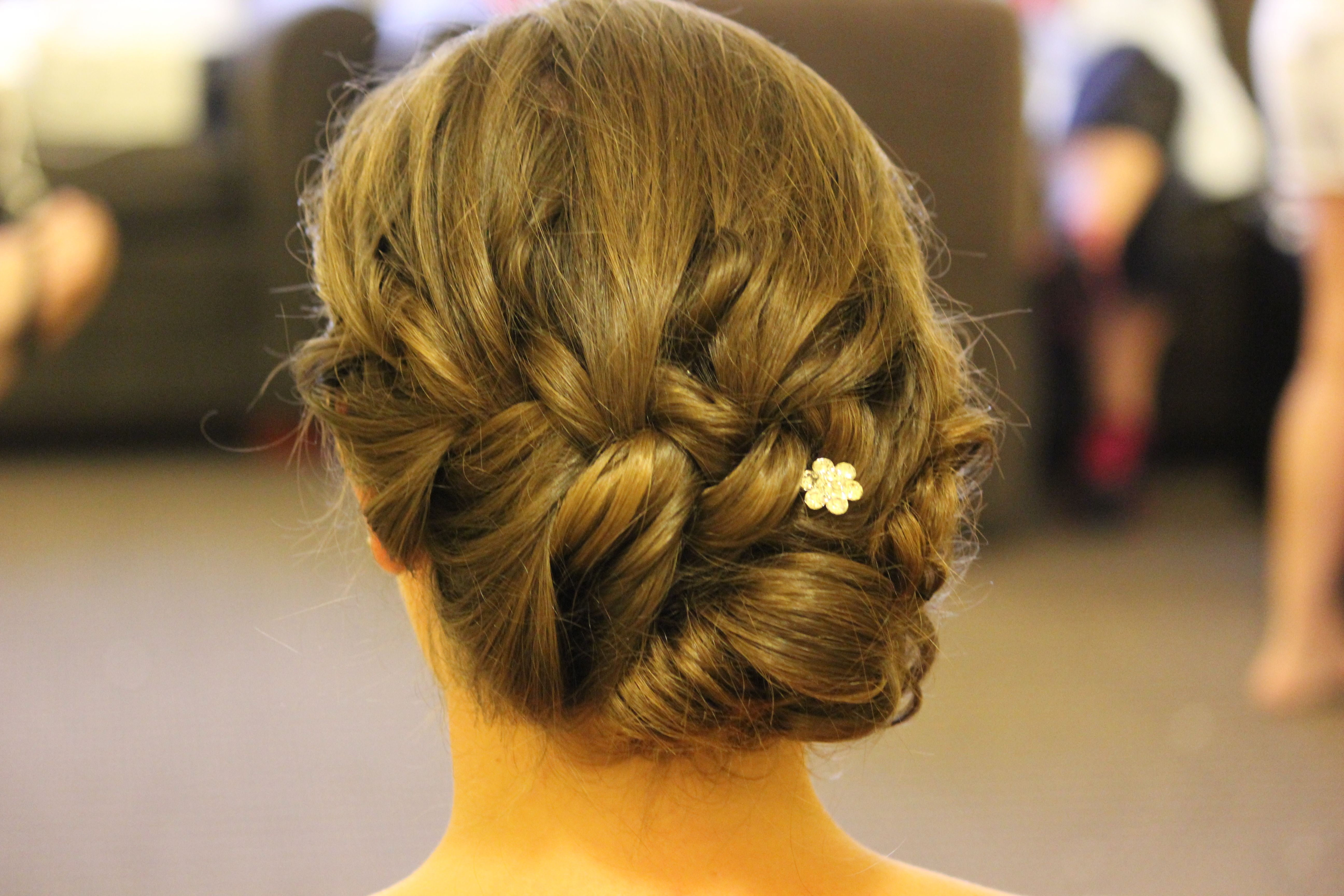 Simple and classic but with a modern braid bridal updo food