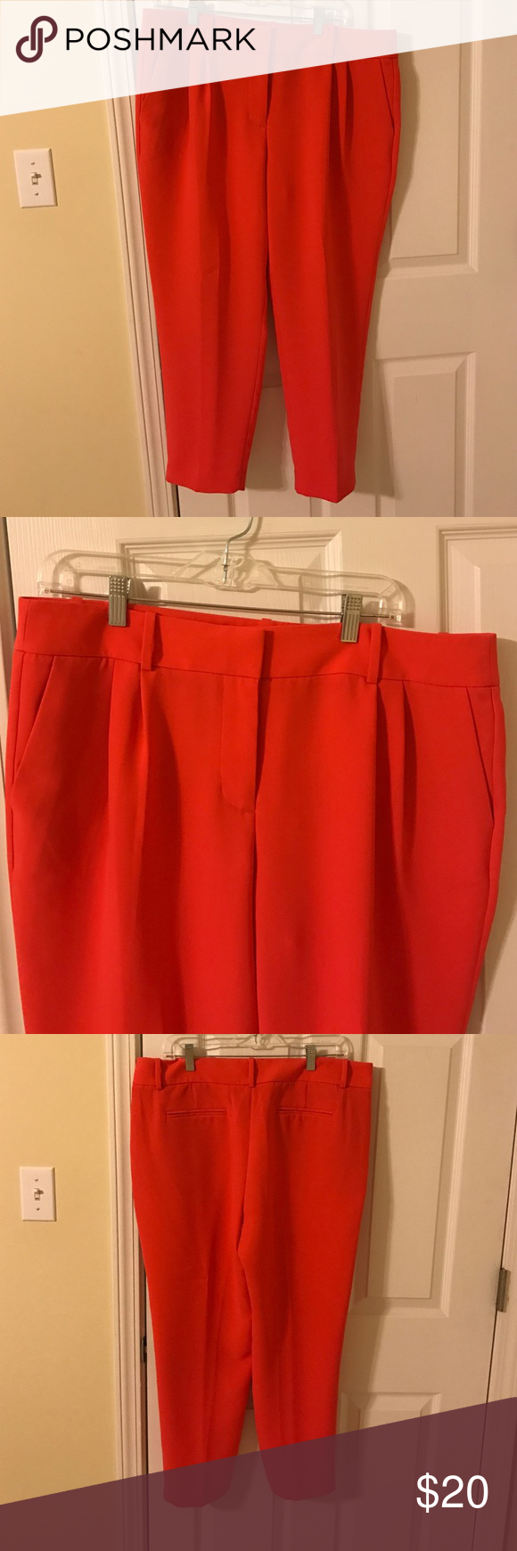 Coral dress pants Brand new coral colored dress pants from J Crew.  Never worn! J. Crew Factory Pants Ankle & Cropped