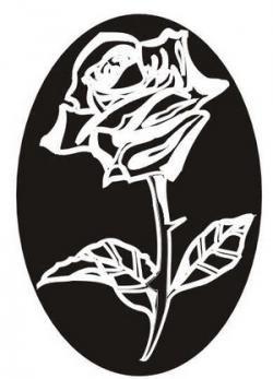 Rose2 dessin pour gravure sur verre cristal miroir for Gravure sur miroir