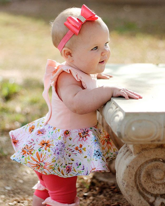 Baby Adelyn\'s Scoop Back Top & Dress | PDF sewing pattern for Baby ...