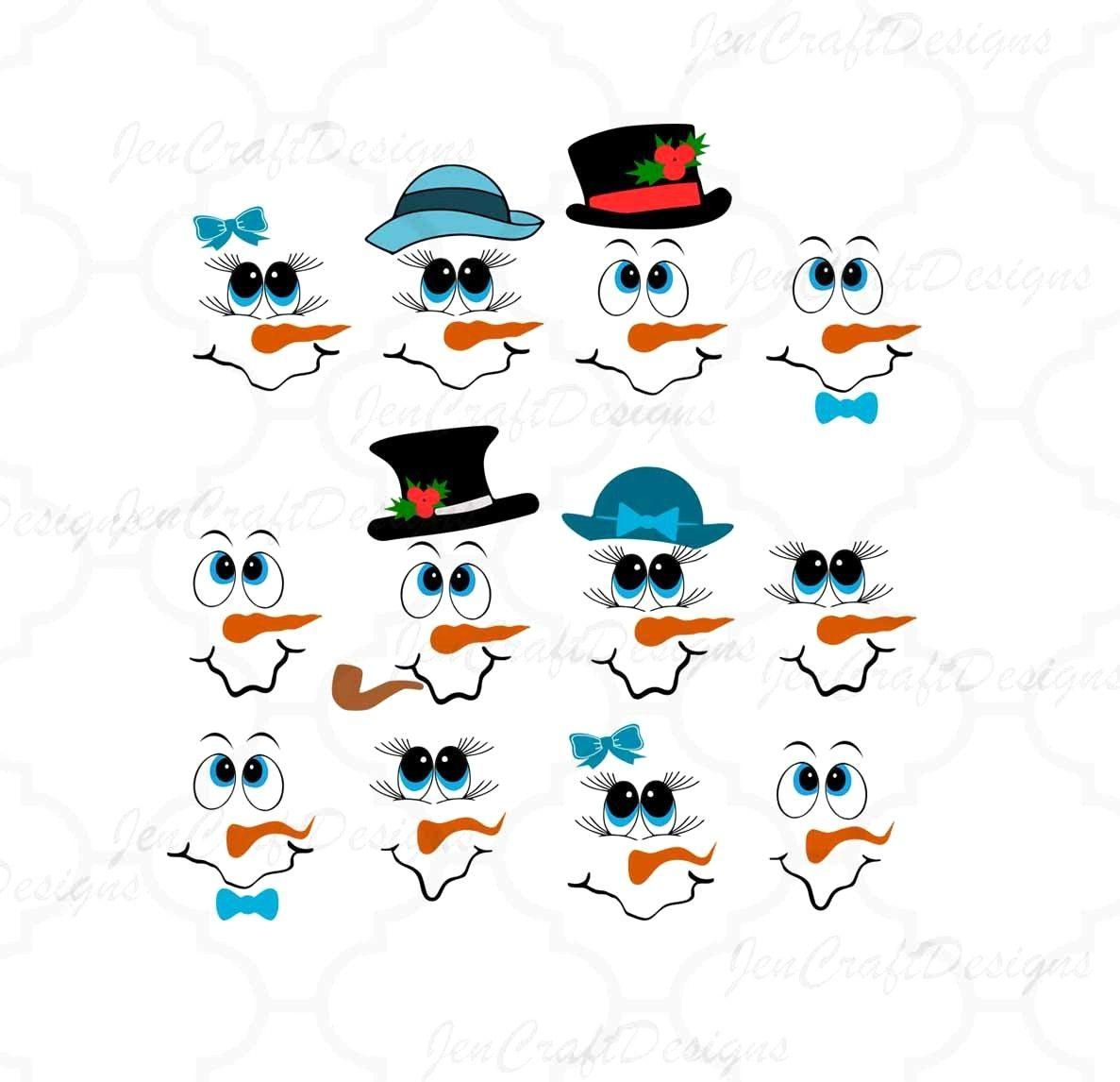 16+ Frosty snowman face clipart ideas