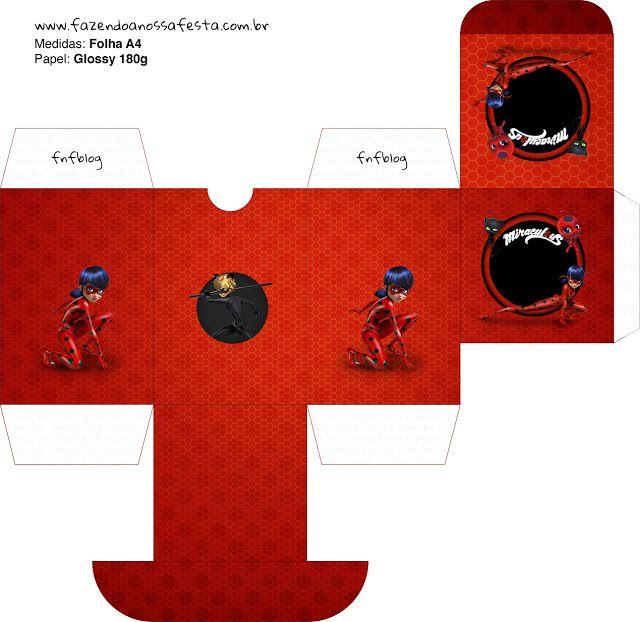 Prodigiosa Ladybug: Cajas Para Imprimir Gratis