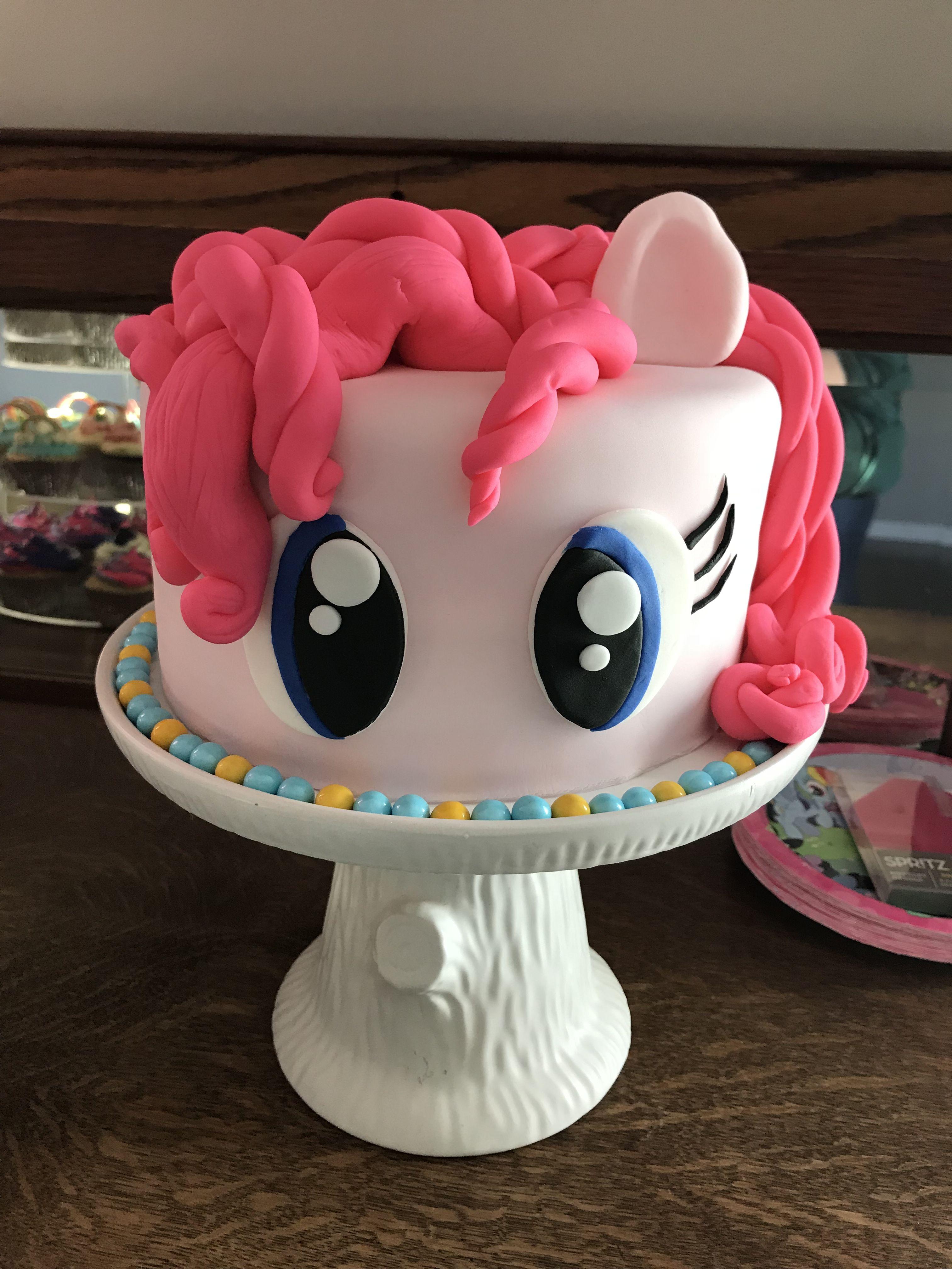 Pinkie Pie Cake That Liz And I Made For Avens My Little Pony Party Mylittleponycake Mylittleponyparty Mylittleponycupcake Pinkiepie Pinkiepiecake