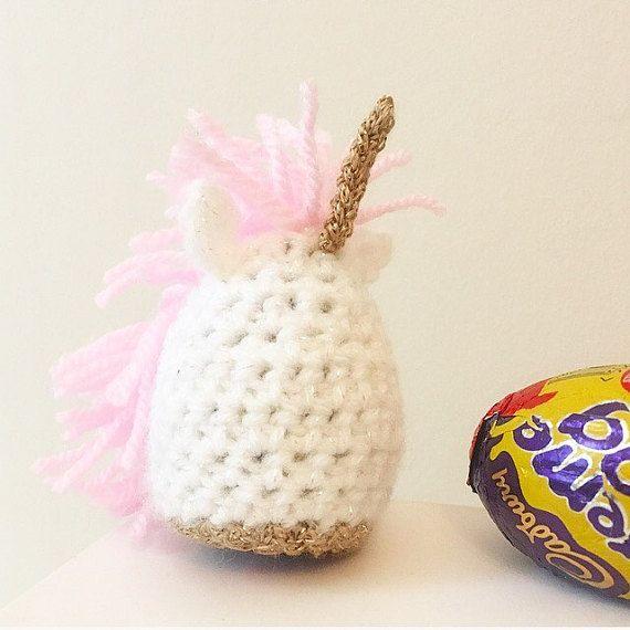 Unicorn Creme Egg Cosy, Egg Cover, Magical, Crochet, Cadburys | Gemelo