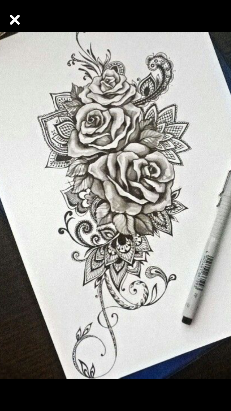 Best Rose And Lace One Yet Floral Tattoo Sleeve Lace Tattoo Inspirational Tattoos