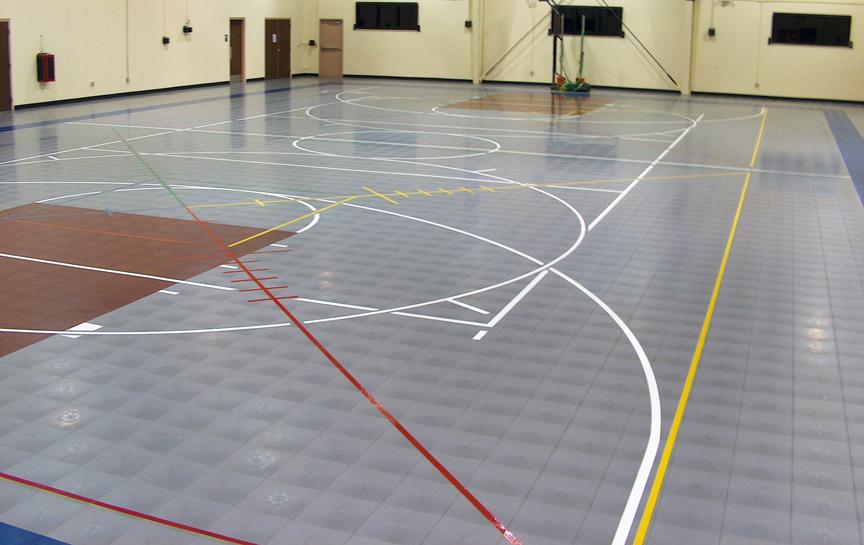 Gymnasium Flooring Installation