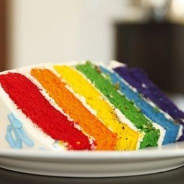 Rainbow Cake Kukus untuk Natal Resipi kukus Pinterest Rainbow