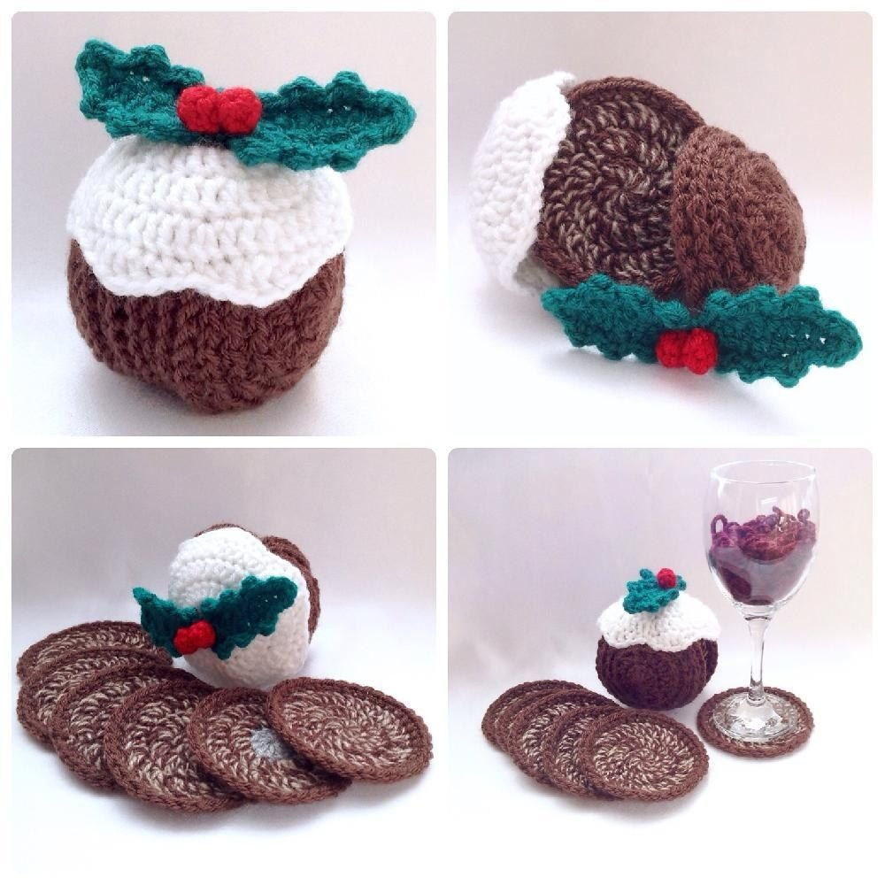 Christmas Pudding Coaster Set | Crochet time!!! | Pinterest | Croché ...