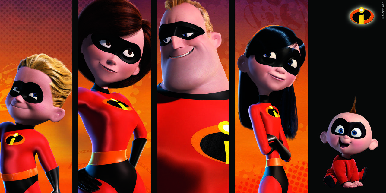 """the superhero family in the incredibles a pixar animated film by brad bird After a spell away from animated features, brad bird returns to the form to write   at home to take care of the family while she goes off to fight crime  first movie, a  very powerful female superhero,"""" he told rotten tomatoes."""