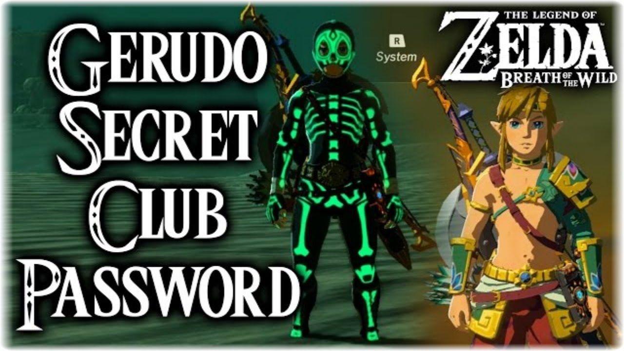 Parola d'ordine Club Segreto Gerudo di Zelda BOTW | Breath