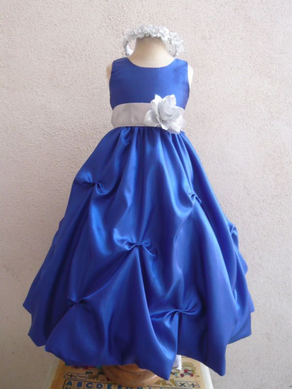 royal blue and silver flower girl dresses wwwpixshark