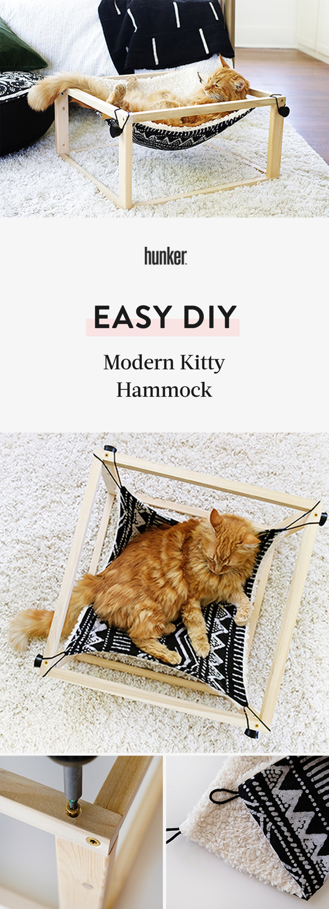 Photo of Your Cat is Going to Lurve This Modern DIY Kitty Hammock | Hunker