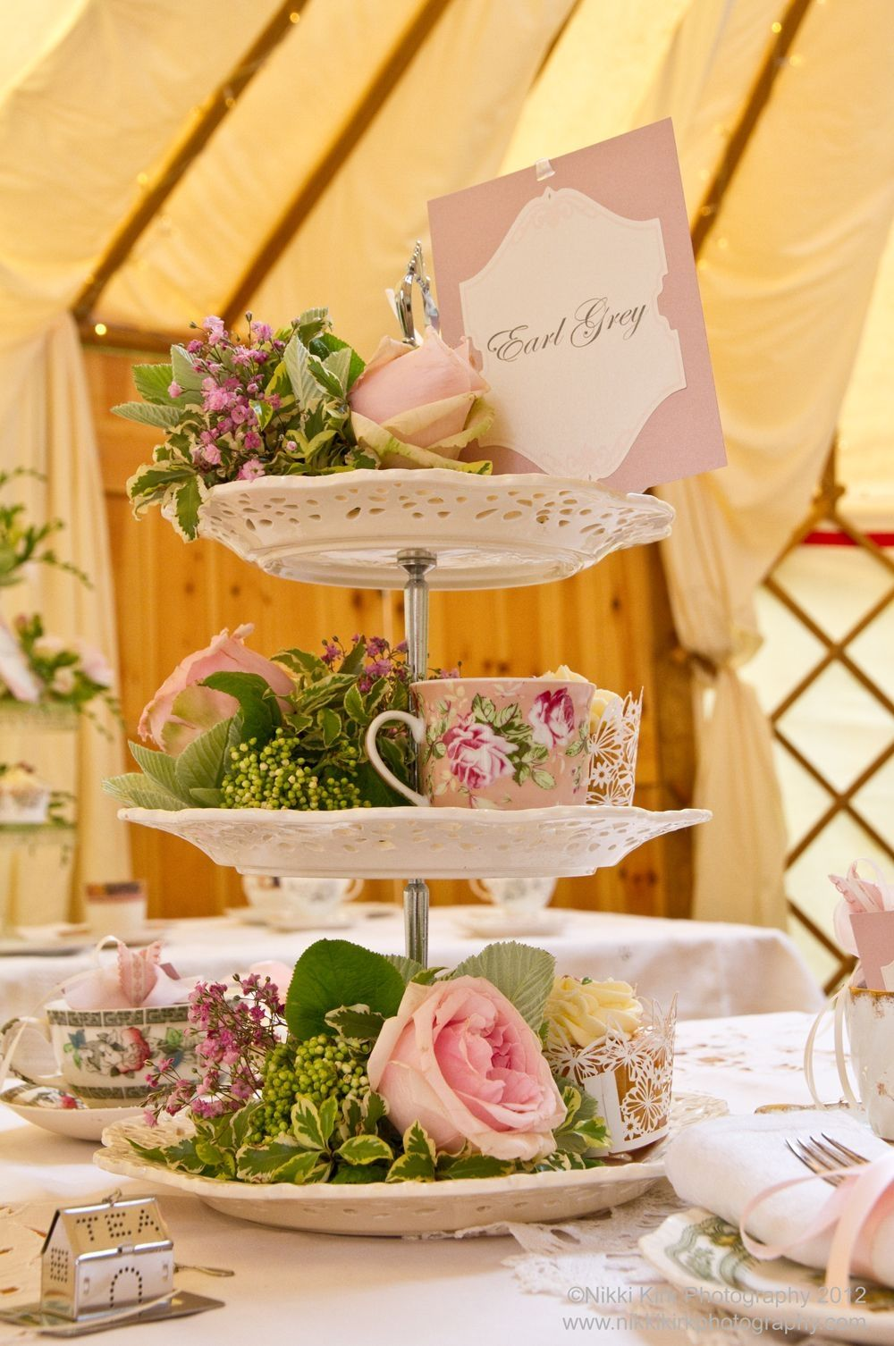 Have A Lovely Afternoon Tea Wedding At Pentillie Castle In Cornwall Www Pentillie Co Uk We Afternoon Tea Wedding Wedding Table Decorations Vintage Wedding Tea