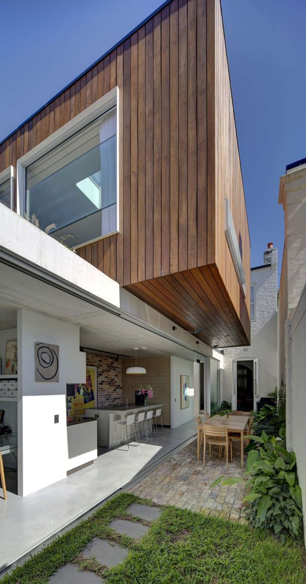 contemporary renovation in sydney  long courtyard house