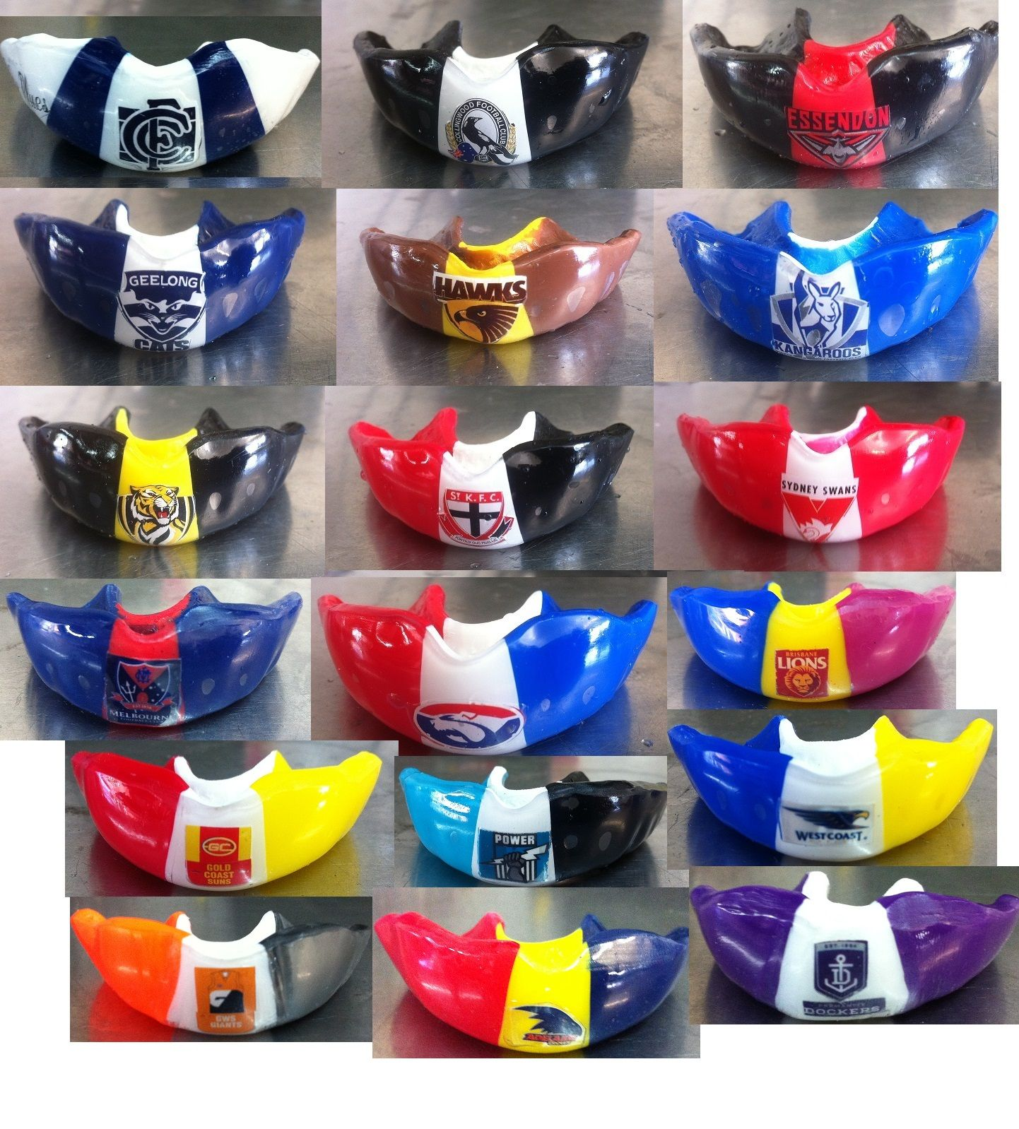 Afl team mouthguards mouth guard afl sports mouthguards